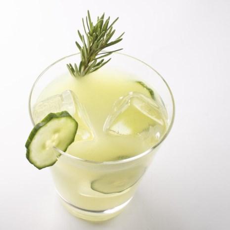 Rosemary-Infused Cucumber Lemonade