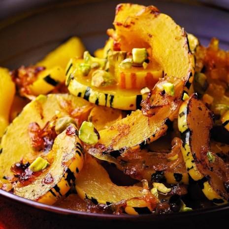 Delicata Squash with Orange & Pistachios