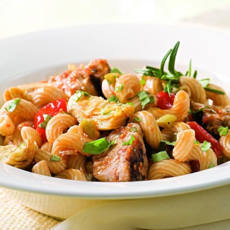 Tuna Pasta with Olives & Artichokes