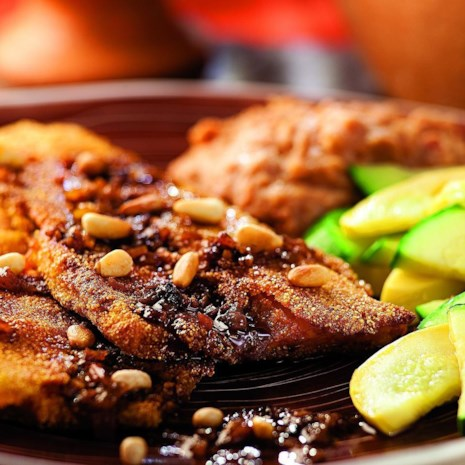 Pan-Fried Trout with Red Chile Sauce