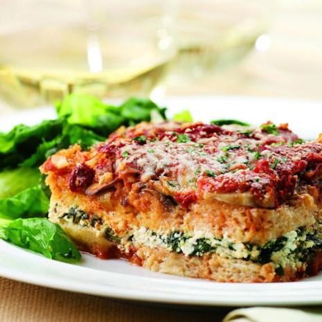 Tomato & Spinach Dinner Strata