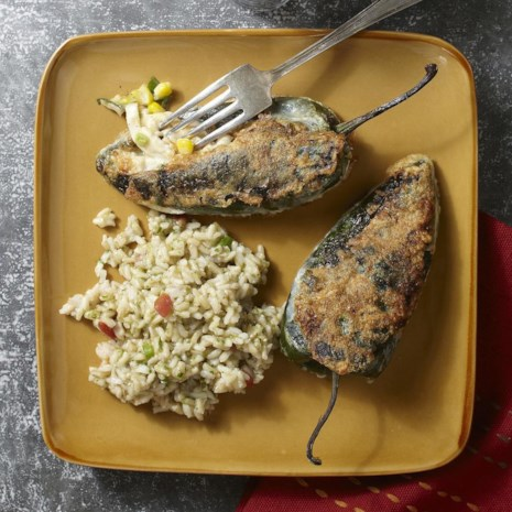 Chiles Rellenos with Chicken