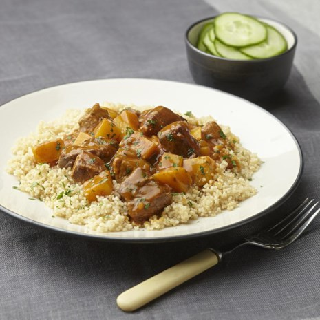Couscous with Rutabaga & Beef Stew