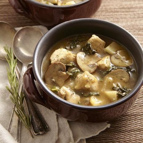 Chicken Stew with Turnips & Mushrooms