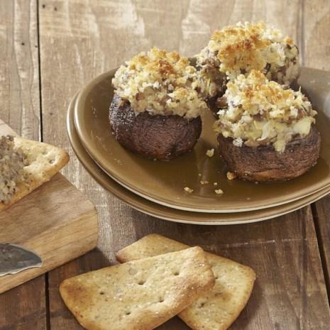 Artichoke & Parmesan Stuffed Mushrooms