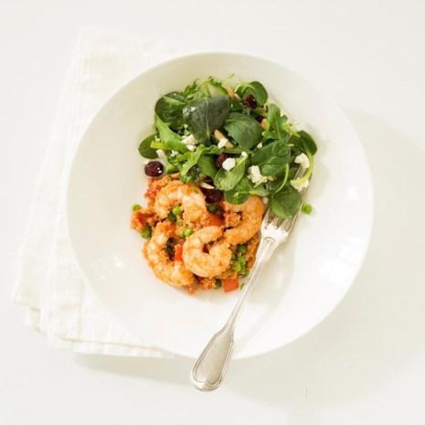 Shrimp, Ham & Pepper Couscous