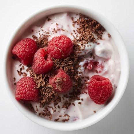 Raspberry Yogurt with Dark Chocolate