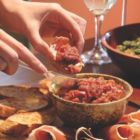 Serrano Ham with Crusty Tomato Bread