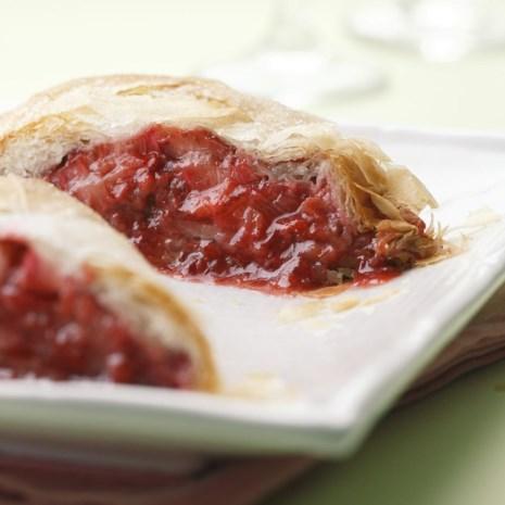 Strawberry-Rhubarb Strudel