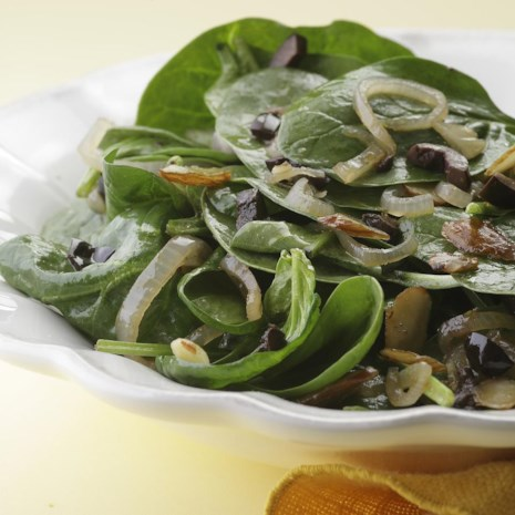 Wilted Spinach Salad with Sherry Vinaigrette