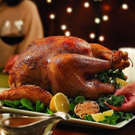 Lemon-Garlic Roast Turkey & White-Wine Gravy