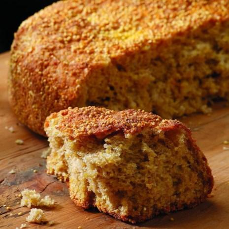 Crunchy-Munchy Corn & Millet Bread