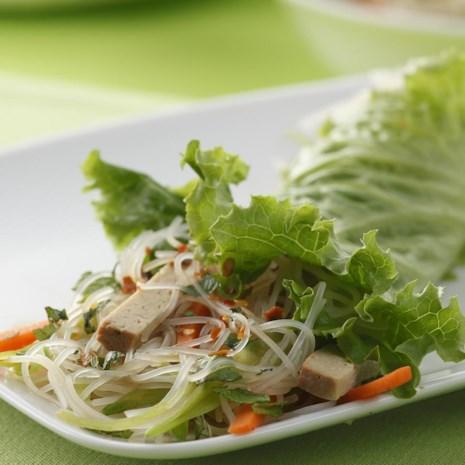 Vietnamese Tofu-Noodle Lettuce Wraps