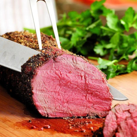 Peppercorn-Crusted Beef Tenderloin