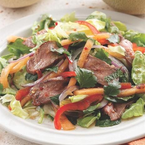 Thai-Style Melon & Beef Salad