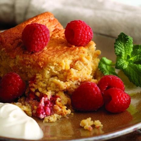 Raspberry Spoonbread