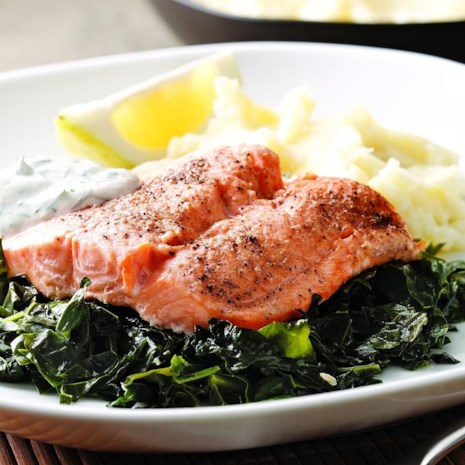 Arctic Char on a Bed of Kale