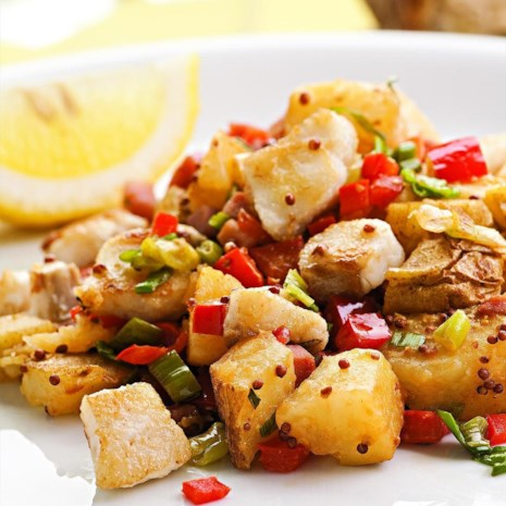 Catfish & Potato Hash
