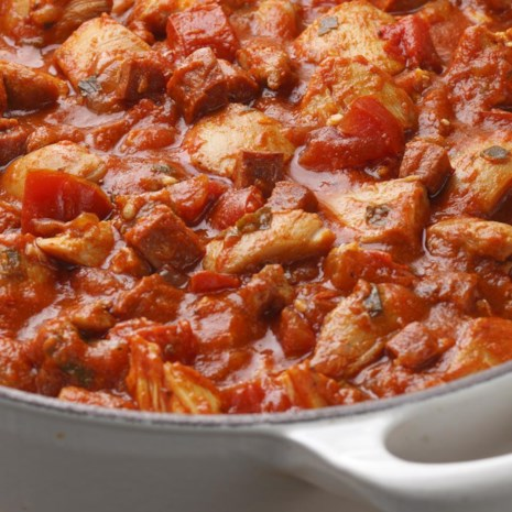 Iberian-Style Sausage & Chicken Ragu