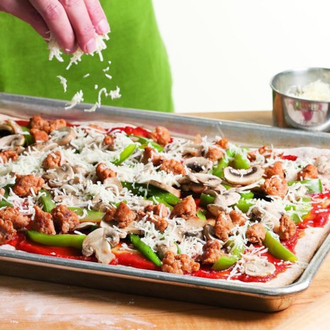 Sausage, Pepper & Mushroom Pizza