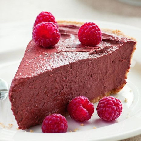 Chocolate Raspberry Tofu Pie