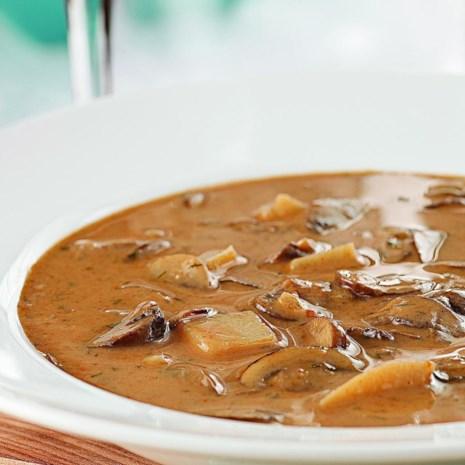 Creamy Hungarian Mushroom Soup