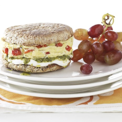 Pesto, Mozzarella & Egg Breakfast Sandwich