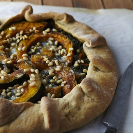 Kale & Squash Galette with Olive Oil Crust