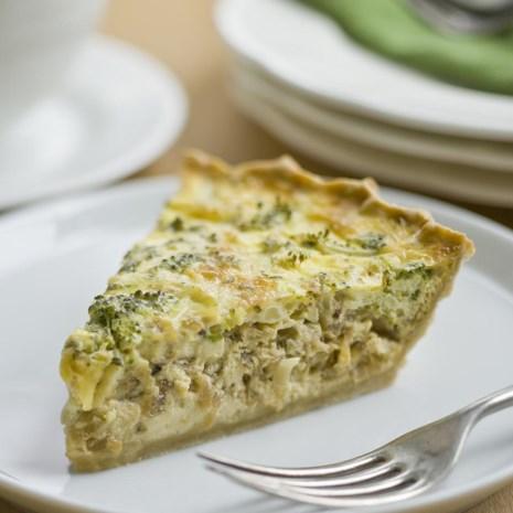 Cheddar & Broccoli Quiche