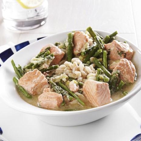 Salmon & Asparagus Farro Bowl