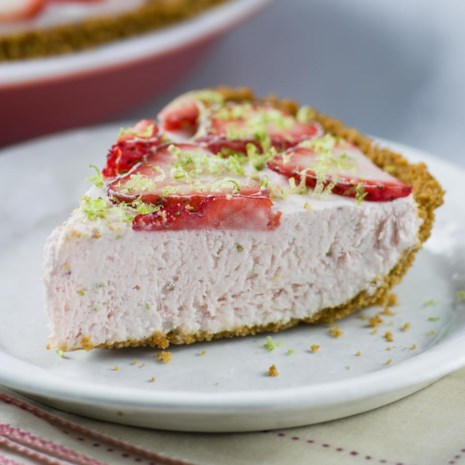 Strawberry-Lime Ice Cream Pie