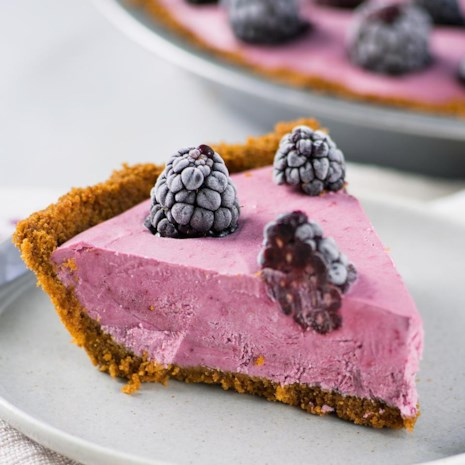 Blackberry-Lemon Ice Cream Pie