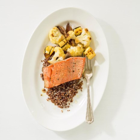 Salmon with Roasted Vegetables & Quinoa
