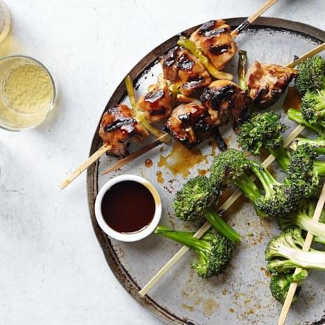 Chicken Yakitori with Broccoli