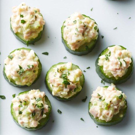 Cucumber Cups with Deviled Ham Salad