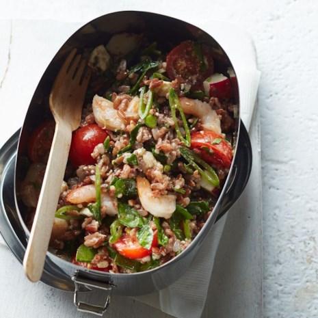 Shrimp & Vegetable Red Rice Salad