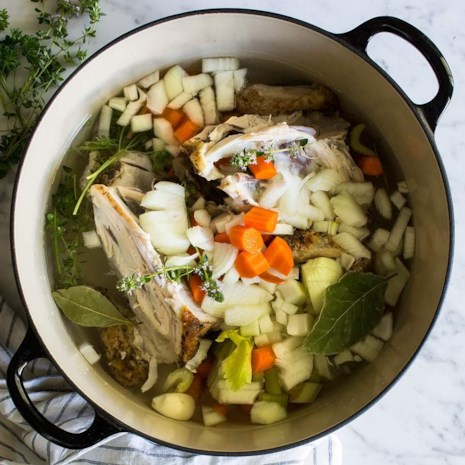 Recipes to use up food scraps eatingwell homemade roasted chicken stock forumfinder Images