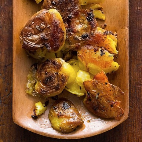 Garlic-Rosemary Smashed Potatoes