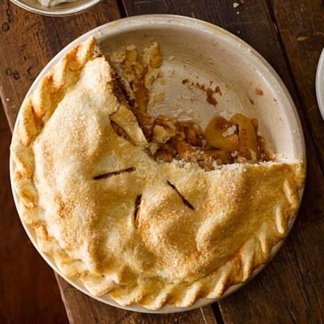 Maple-Ginger Apple Pie