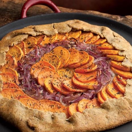 Sweet Potato, Red Onion & Fontina Tart