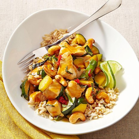 Thai Chicken Stir-Fry with Basil & Cashews