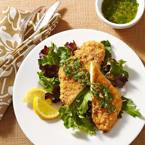 Crispy Chicken Schnitzel with Herb-Brown Butter