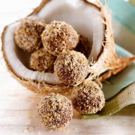 Coconut-Dark Chocolate Truffles