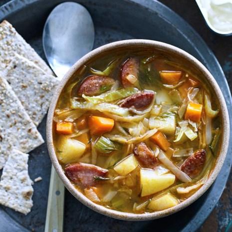 Kielbasa & Cabbage Soup