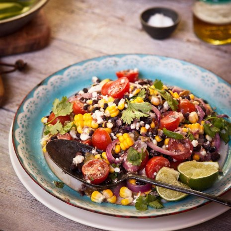 Corn & Black Bean Quinoa Salad
