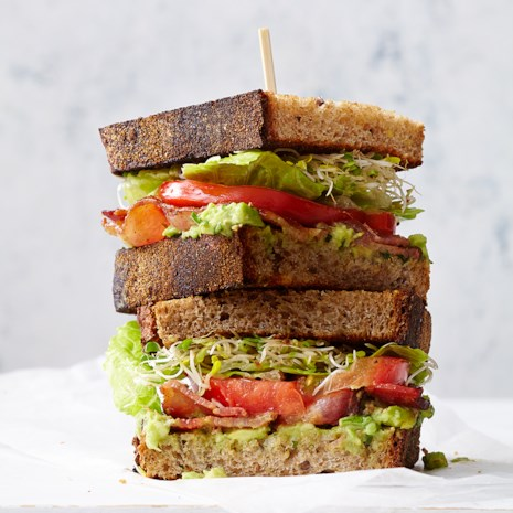 BLATs (Bacon-Lettuce-Avocado-Tomato Sandwiches)