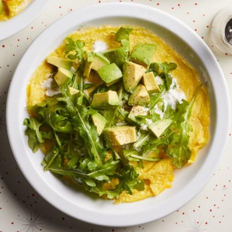Avocado & Arugula Omelet