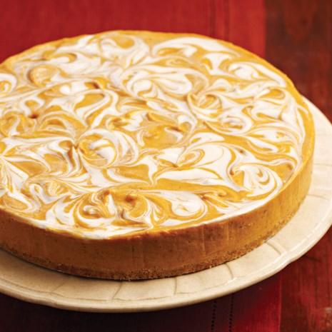 No-Bake Pumpkin Swirl Cheesecake