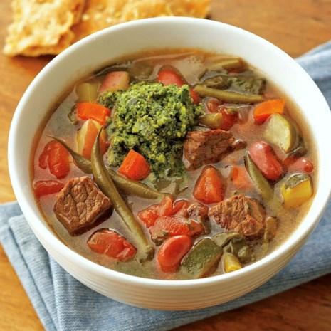 French Beef Stew au Pistou