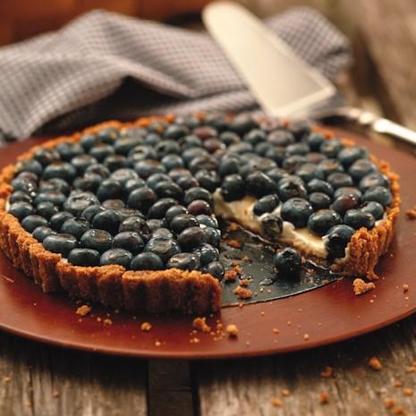 Blueberry Tart with Walnut Crust